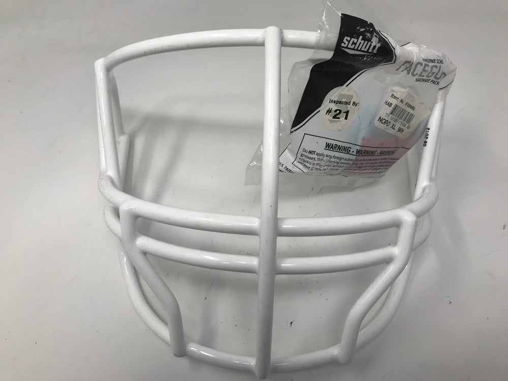 New Schutt Sports Super Pro Football Helmet Facemask NOPO X-Large White Adult