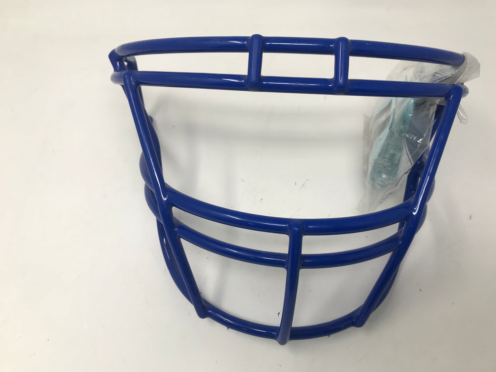 New Schutt Sports DNA EGOP II Carbon Steel Varsity Football Faceguard Royal Blue