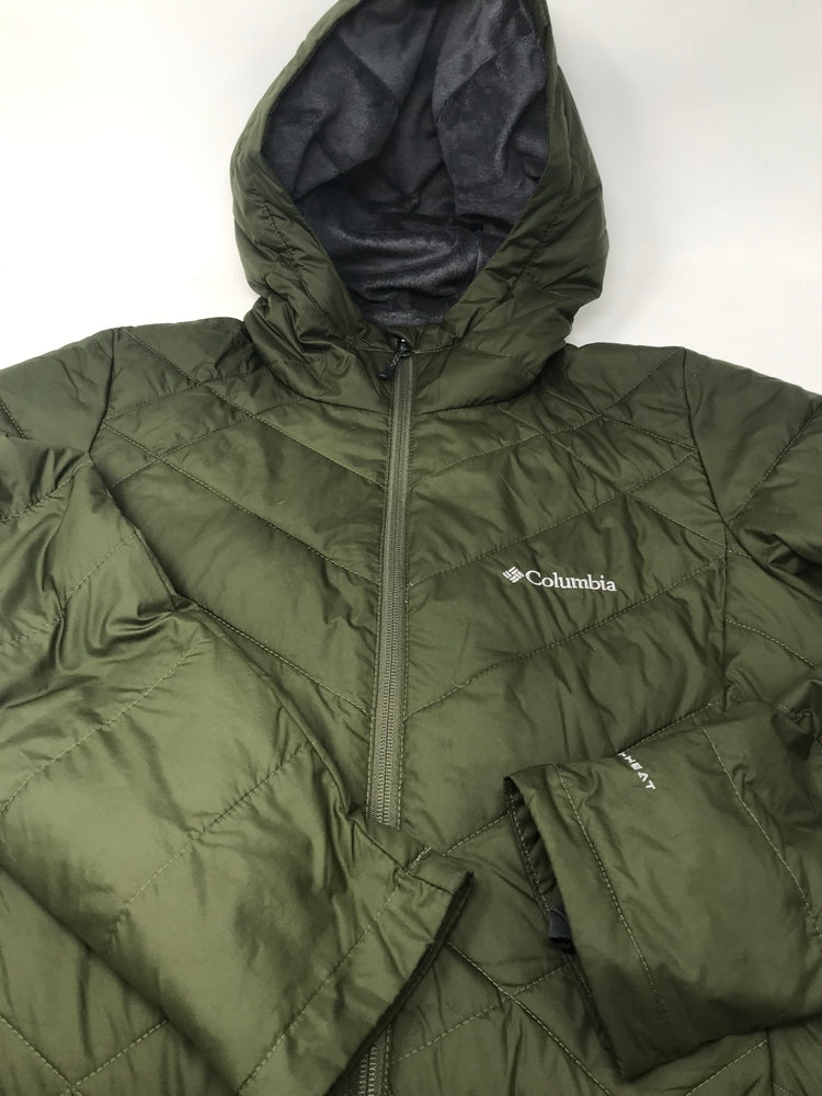 Used Columbia Women's Heavenly Long Hooded Jacket Large Green
