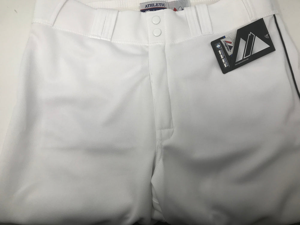 New Majestic Cool Base HD Adult Open Bottom White Baseball/Softball Pants Large