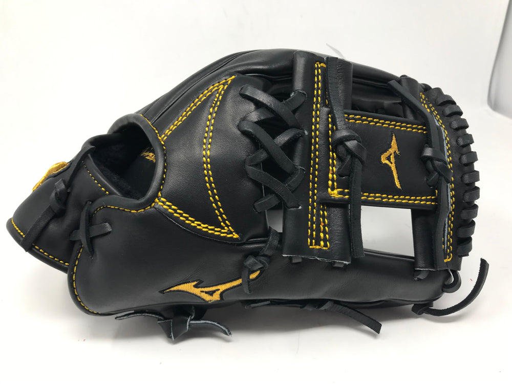 "New Mizuno GMP500JBK Pro Limited Edition Glove 11.75"" RHT Black Baseball Infield"
