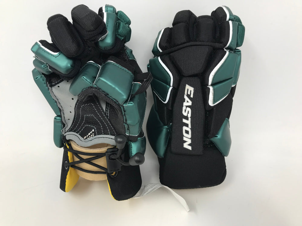 New Easton Stealth Lacrosse Glove 12 Inch Black/Green AX Suede