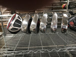 New Top Flite Mens Irons, 4- Hybrid Irons 6,7,8,9,W and Mallet Putter Black/Red