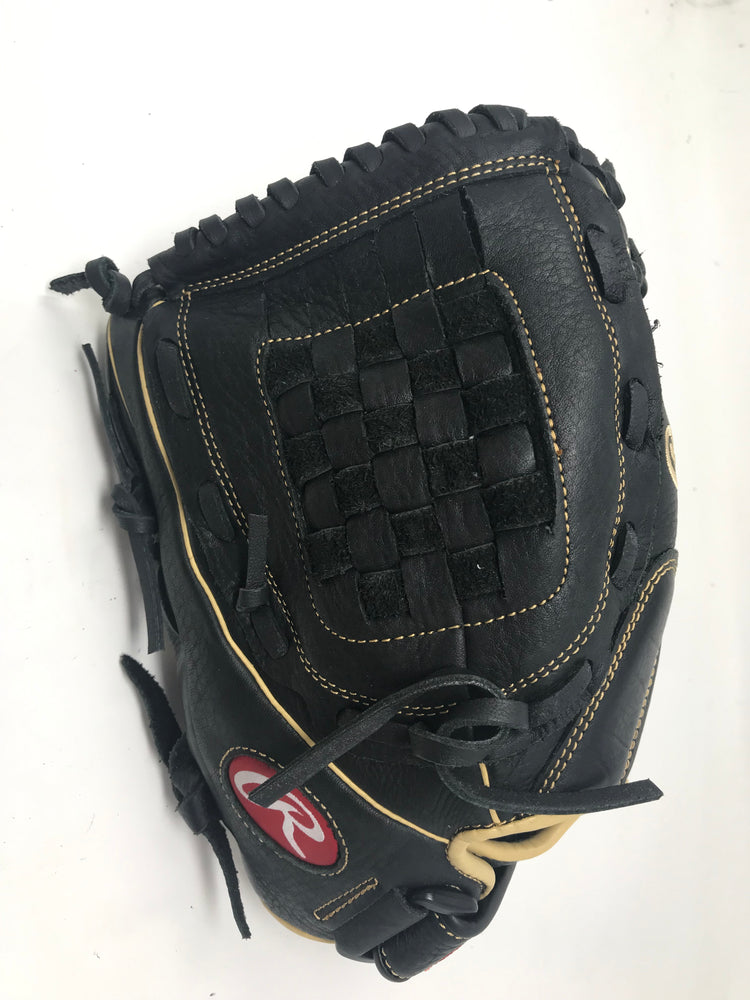 New Rawlings Shut Out Fastpitch Softball Glove 12 RSO120BCC LHT 12 Inch Blk/Tn