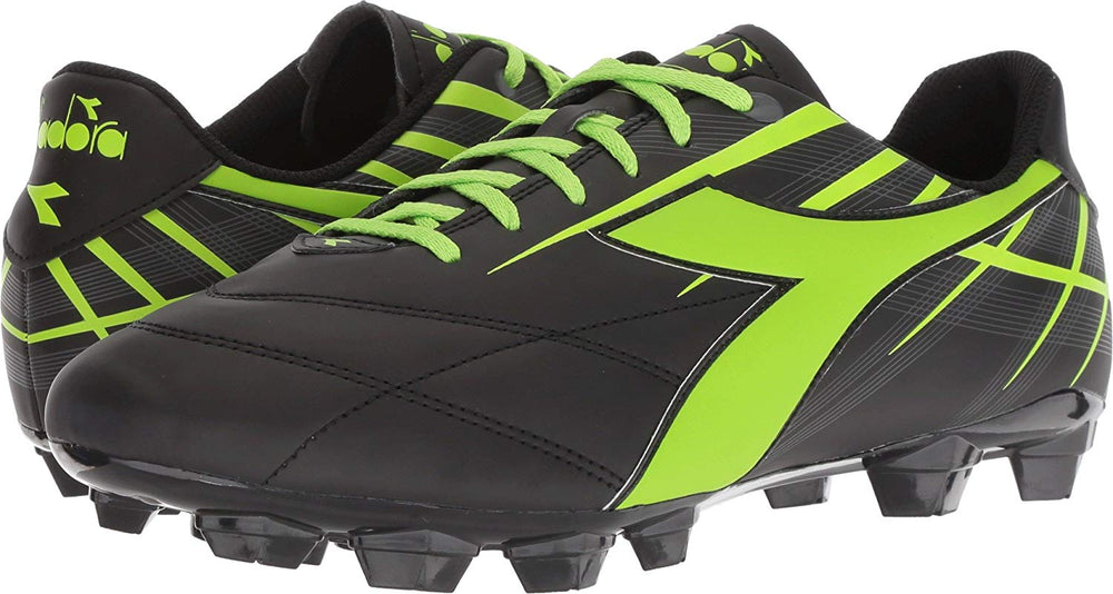 New Diadora Forte MD LPU Women's 8.5 Soccer Molded Cleats Black/Lime