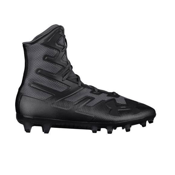 New Under Armour Highlight Mc Molded Football Cleat Mens Size 9.5 Black