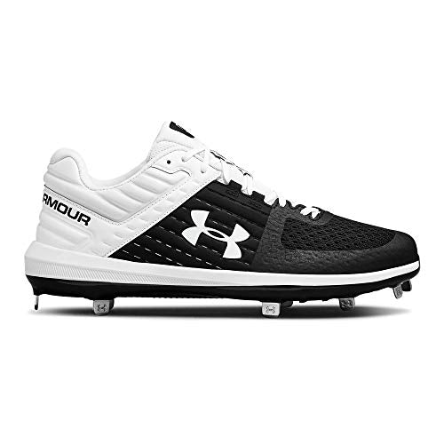 New Under Armour Yard Low ST Mens Size 11.5 Black/White Baseball Cleats