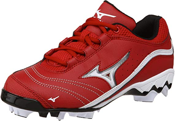New Mizuno Watley G3 Switch 320369 Womens 5 Fastpitch Softball Cleats Red/White
