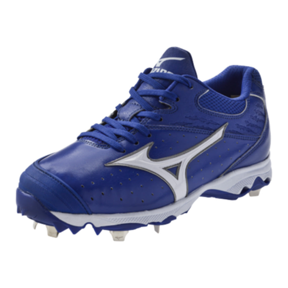 New Mizuno Women's 9-Spike Sweep Metal Softball Cleats 7 Royal/White