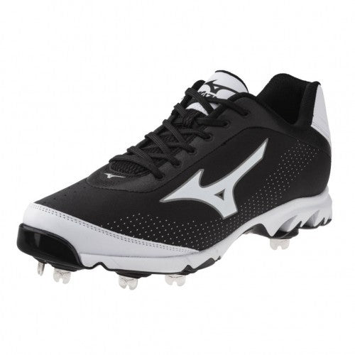New Mizuno Vapor Elite 7 320443 Size Mens 12.5 Baseball Metal Cleats Blk Wht