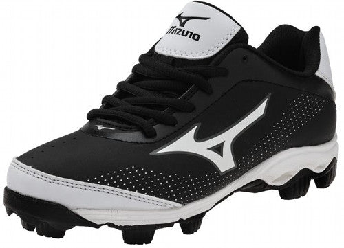 New Mizuno Franchise 7 320451 Size Youth 1 Baseball Cleats Black/White