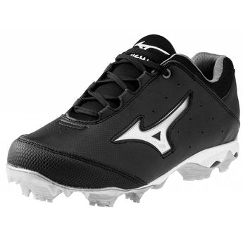 New Mizuno Finch Elite Switch 320455 Softball Cleats Women 6 Black/White Molded