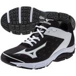 New Mizuno Wave Swagger 2 Trainer Mens 8.5 Baseball Training Shoes Metal Blk/Wht