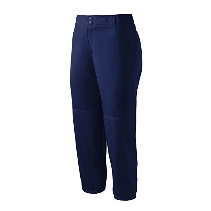 New Mizuno Select Non-Belted Low Rise Fastpitch Pant Women's Large Navy