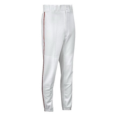 New Mizuno Select 350310.0010 Baseball Premier Pants Youth XXX-Large White/Red