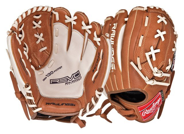 "New Rawlings Revo 3SC125D Baseball Glove LHT 12.5"" Brown Deep 130 Pocket Brn/Wht"