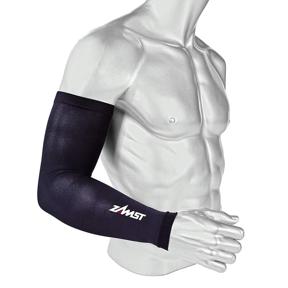 New Zamst Compression Arm Sleeves Black Large 475803