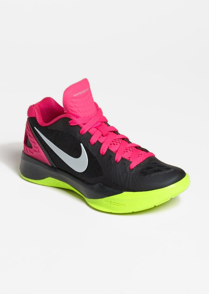 New Nike Volley Zoom Hyperspike Women's Size 12 Volleyball Shoe Black/Pink/Volt