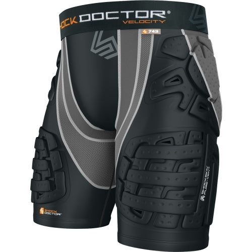 New Other Shock Doctor Velocity ShockSkin Football 5-Pad Short Mn XX-Large Bk/Gy