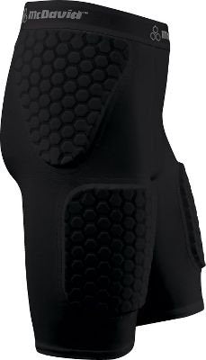 New McDavid AS Hexpad Thudd Short with Thigh Pads football girdle Black