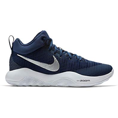 New Nike Zoom Rev TB Basketball Shoes Men 5.5/Wmn 7 922048-401 Navy/Silver