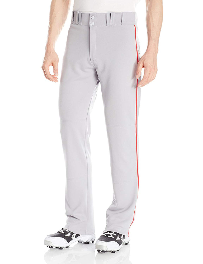 New Easton Baseball Rival Piped Pants Adult X-Large Gray/Red A164561