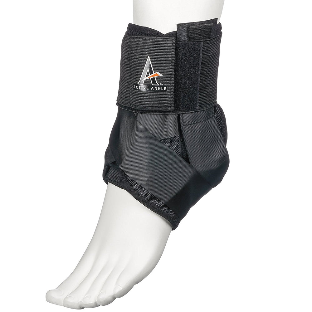 New Active Ankle AS1 Lace Up Ankle Brace, Small Black
