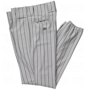 New Rawlings Men's BP95 Relaxed Fit Baseball Pants XX-Large Grey/Black