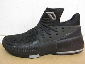 New Adidas Dame Lillard 3 Mens Size 14.5 Basketball Shoe Black BY3206