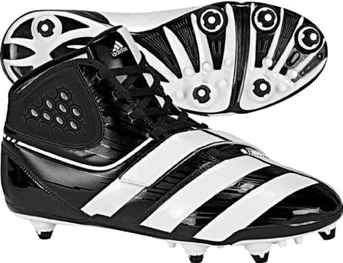 New Adidas Men's Malice D Football Cleat G20575 Men 10 Black/White