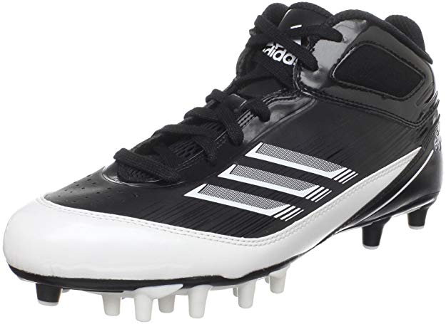 New Adidas Men's Scorch X SuperFly Mid Football Cleat Men 8 Black/White