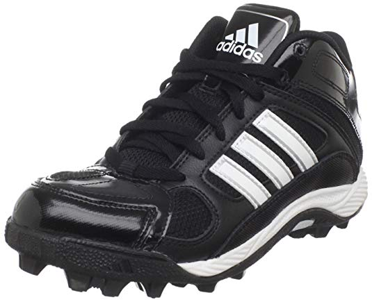 New Adidas Destroy MD J Mid Football Cleat 2.5 Little Kids Black/White