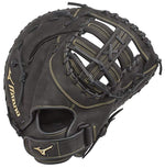 "New Mizuno GXF50FP MVP Prime RHT Fastpitch Softball First Base Mitts 13"" Blk/Yll"