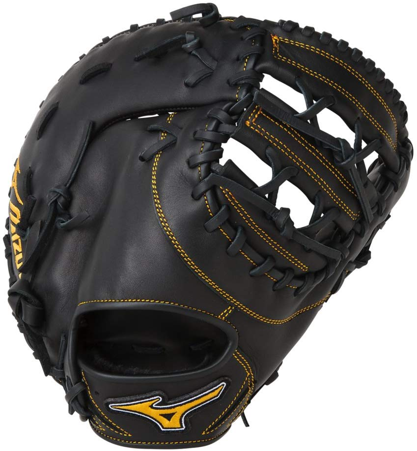 "New Mizuno GXF50PB2 MVP Prime Fastpitch Softball First Base Mitts, 12.5"" Wht/Blk"