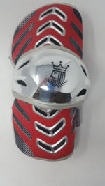 New Brine LAGTRN2 Trance Large Lacrosse Arm Guard Red/Silver 1 Pair