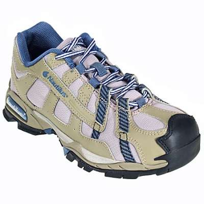 New Nautilus Women's Safety Toe SD Work Shoes N1354 Sz 7 Wide Khaki/Blue