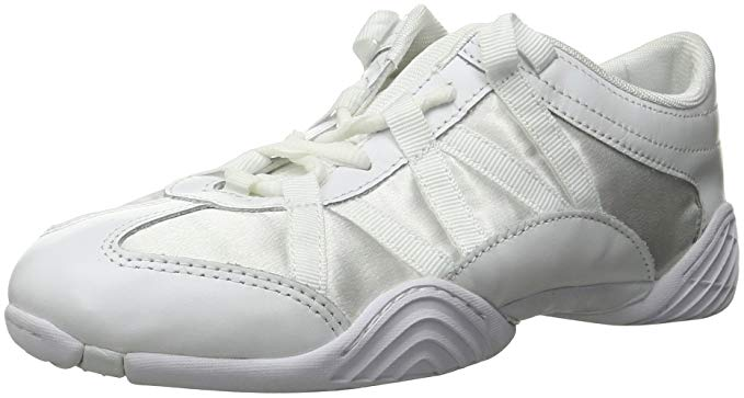 New Nfinity Adult Evolution Cheer Shoes 10 White 6.5 Feather light Bubble laces