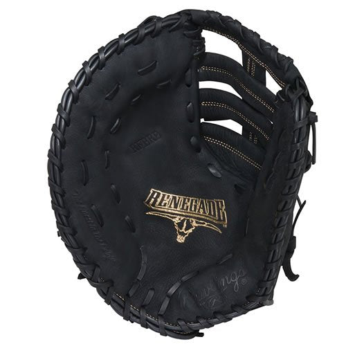 "New Rawlings  Renegade Series Baseball First Base Mitt  LHT 12-1/2"" Black/Gold"