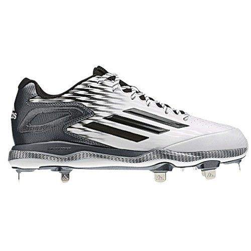 New Adidas PowerAlley 3 Mens 9 Baseball Cleat SS White/Black S84756