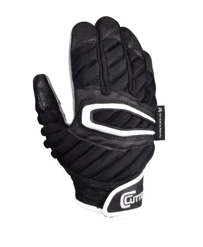 New Cutters Gloves Adult The ShockSkin Lineman Glove Large Black/White
