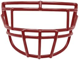New Schutt SEGOP-II Stainless Steel Super Pro Varsity Football Faceguard  Red