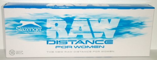 New Slazenger Raw Distance For Women One Dozen (12) Balls White Low Compression
