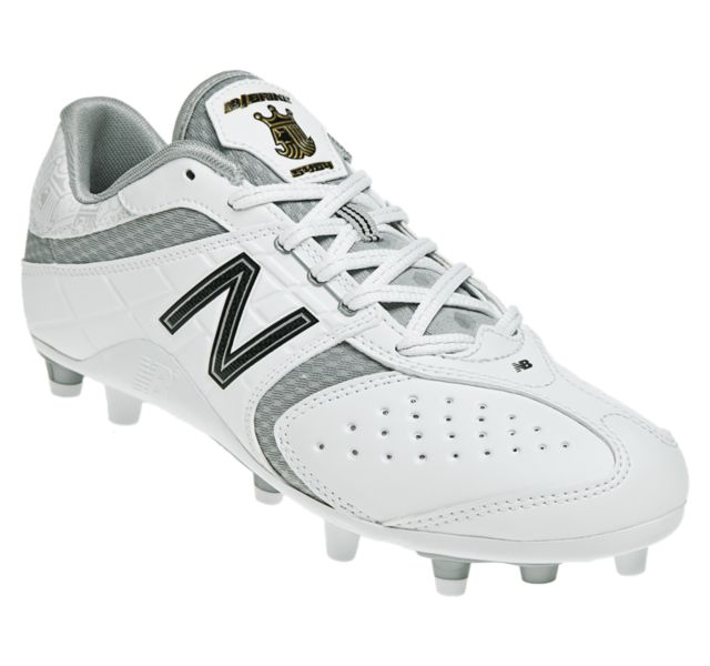 New New Balance Womens 7 Lacrosse Shoes Molded Cleats White/Silver