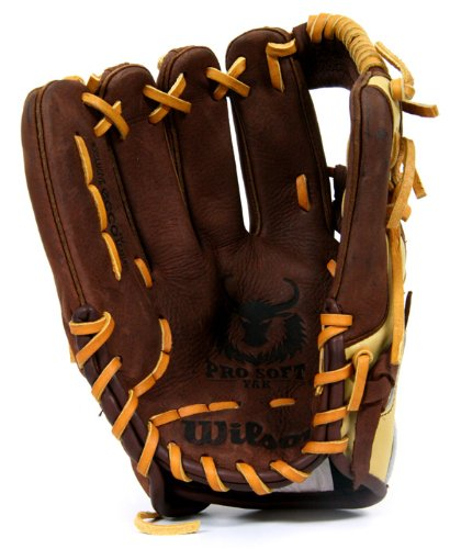 "New Wilson A1500 1786 YAK Infielder's Throw Baseball Glove LHT 11.5"" Brwn/Tan"