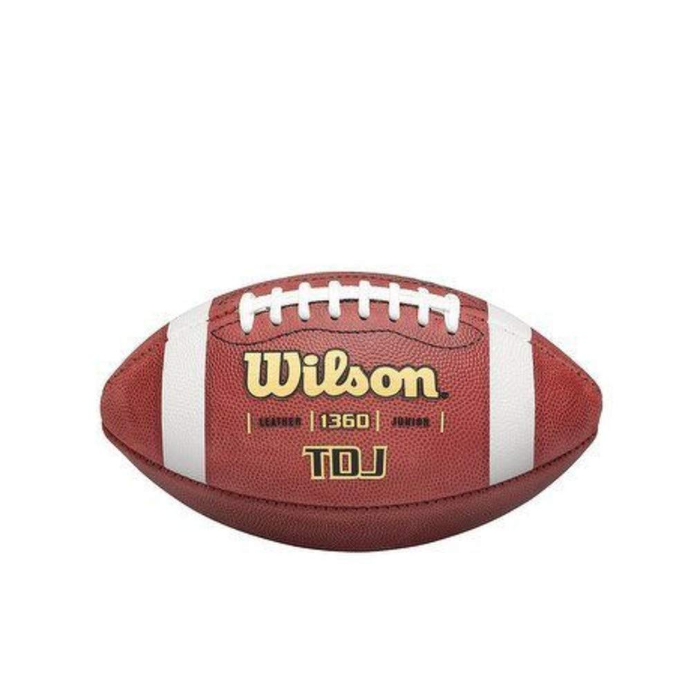New Wilson TDJ Leather Game Junior Youth Football WTF1360