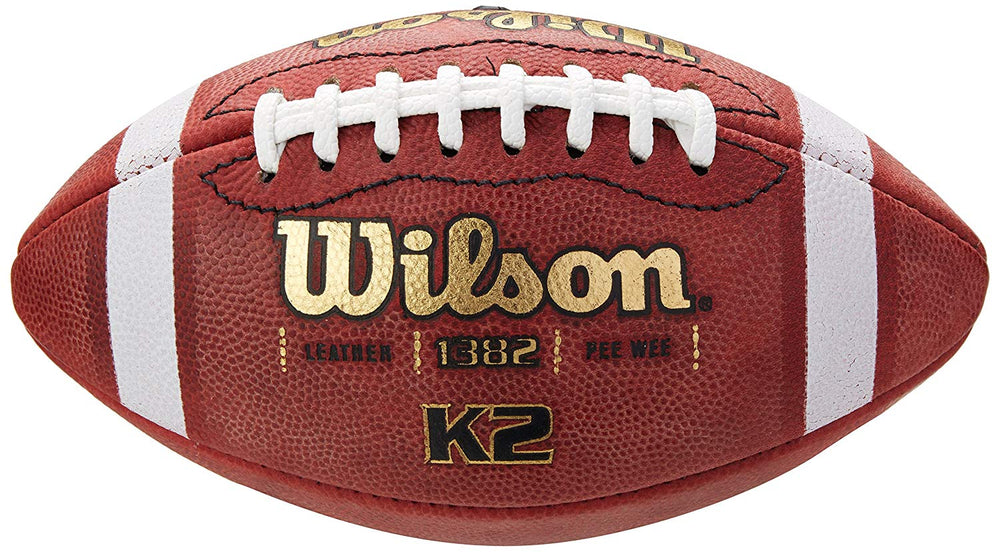 New Wilson NFL Autograph Football Peewee Youth Leather WTF1382 K2