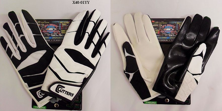New Cutters X40 C-TACK Revolution Yin Yang Football Gloves XL Black/White
