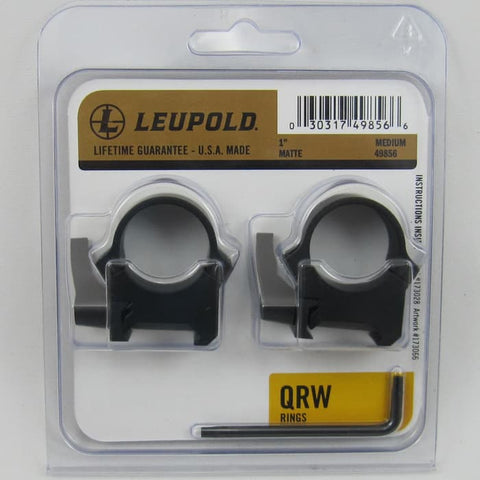 LEUPOLD RING MOUNT QRW2 25.4mm/1inch MEDIUM QUICK DETACHABLE (MT661)