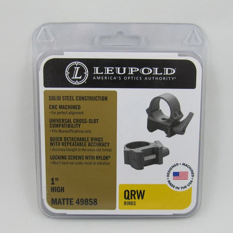 MOUNTING LEUPOLD QRW2 1-inch Picatinny High (MT662)
