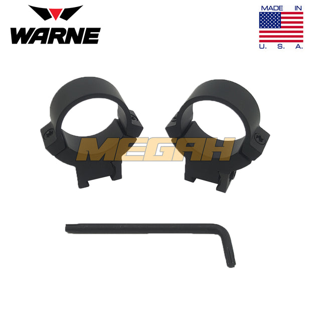 WARNE MAXIMA RING MOUNT USA Ø25.4 REL ANGIN - HIGH (MT734)